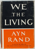 Books:Fiction, Ayn Rand. We the Living. Random House, 1959. Reissue edition. Very good....