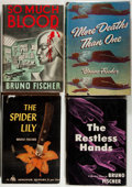 Books:Mystery & Detective Fiction, Bruno Fischer. Group of Four First Edition Books, including: SoMuch Blood. 1939-1949. Very good.... (Total: 4 Items)