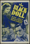 "The Black Doll (Universal, 1938). One Sheet (27"" X 41""). Mystery. Starring Donald Woods, Nan Grey, Edgar Kenne..."