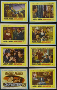"Chain Lightning (Warner Brothers, 1950). Lobby Card Set of 8 (11"" X 14""). War. Starring Humphrey Bogart, Elean..."