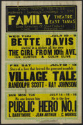 """Movie Posters:Drama, The Girl from 10th Avenue (First National, 1935). Locally Produced Window Card (14"""" X 22""""). Drama. Starring Bette Davis, Ian..."""