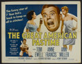 """Movie Posters:Sports, The Great American Pastime (Loew's, 1956). Half Sheet (22"""" X 28""""). Sports Comedy. Starring Tom Ewell, Anne Francis, Ann Mill..."""
