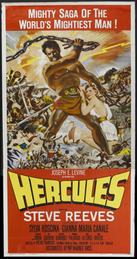 "Hercules (Warner Brothers, 1959). Three Sheet (41"" X 81""). Adventure. Starring Steve Reeves, Sylva Koscina, Fa..."