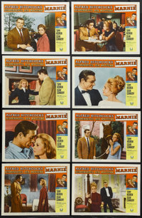"""Marnie (Universal, 1964). Lobby Card Set of 8 (11"""" X 14""""). Mystery. Starring Tippi Hedren, Sean Connery, Diane..."""
