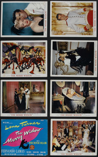 """The Merry Widow (MGM, 1952). Deluxe Lobby Card Set of 8 (11"""" X 14""""). Musical. Starring Lana Turner, Fernando L..."""