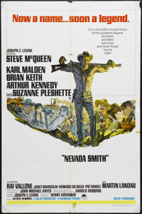 "Nevada Smith (Paramount, 1966). One Sheet (27"" X 41""). Western. Starring Steve McQueen, Karl Malden, Brian Kei..."