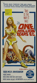 "Movie Posters:Science Fiction, One Million Years B.C. (20th Century Fox, 1966). Australian Daybill(13"" X 30"") and Mailer (Multiple Pages). Fantasy Adventu... (Total:2 Items)"