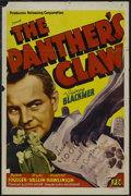 "Movie Posters:Mystery, The Panther's Claw (Producers Releasing Corporation, 1942). OneSheet (27"" X 41""). Mystery. Starring Sidney Blackmer, Rick V..."
