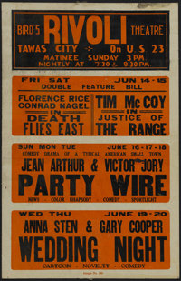 "Party Wire (Columbia, 1935). Window Card (14"" X 22""). Drama"