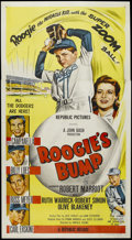 """Movie Posters:Sports, Roogie's Bump (Republic, 1954). Three Sheet (41"""" X 81""""). This Republic Studios film stars Robert Marriot as a kid with a bum..."""