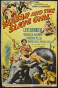 "Movie Posters:Action, Tarzan and the Slave Girl (RKO, 1950). One Sheet (27"" X 39"") StyleA. Adventure. Starring Lex Barker, Vanessa Brown, Robert ..."