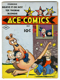 Ace Comics #2 (David McKay Publications, 1937) Condition: FN. Contains some newspaper strip reprints. Appearances by Tex...