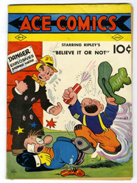 Ace Comics #4 (David McKay Publications, 1937) Condition: VG/FN. Contains some strip reprints and features appearances b...