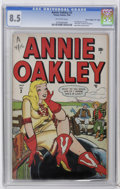"""Golden Age (1938-1955):Humor, Annie Oakley #2 Davis Crippen (""""D"""" Copy) pedigree (Timely, 1948) CGC VF+ 8.5 Off-white pages. First appearance of Lana. """"Hey..."""