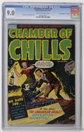 "Golden Age (1938-1955):Horror, Chamber of Chills #5 Davis Crippen (""D"" Copy) pedigree (Harvey,1952) CGC VF/NM 9.0 Off-white to white pages. Interior featu..."