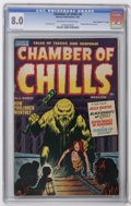 "Golden Age (1938-1955):Horror, Chamber of Chills #6 Davis Crippen (""D"" Copy) pedigree (Harvey,1952) CGC VF 8.0 Off-white to white pages. People melted ali..."