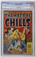 """Golden Age (1938-1955):Horror, Chamber of Chills #7 Davis Crippen (""""D"""" Copy) pedigree (Harvey,1952) CGC VF/NM 9.0 Off-white to white pages. Used in Sedu..."""