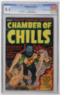 "Golden Age (1938-1955):Horror, Chamber of Chills #11 Davis Crippen (""D"" Copy) pedigree (Harvey,1952) CGC VF+ 8.5 Off-white to white pages. Lee Elias cover..."