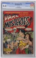 "Golden Age (1938-1955):Horror, Dark Mysteries #5 Davis Crippen (""D"" Copy) pedigree (MasterPublications, 1952) CGC VF 8.0 White pages. Doug Wildey and Hy F..."