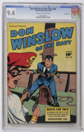 Golden Age (1938-1955):War, Don Winslow of the Navy #60 Crowley Copy pedigree (Fawcett, 1948)CGC NM 9.4 Cream to off-white pages. This copy is currentl...
