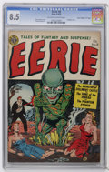 "Golden Age (1938-1955):Horror, Eerie #8 Davis Crippen (""D"" Copy) pedigree (Avon, 1952) CGC VF+ 8.5Off-white to white pages. Phantom Witch Doctor story. Bo..."