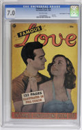 """Golden Age (1938-1955):Romance, Fox Giants Famous Love #nn Davis Crippen (""""D"""" Copy) pedigree (FoxFeatures Syndicate, 1950) CGC FN/VF 7.0 Off-white pages. P..."""