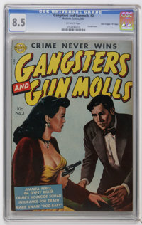 "Gangsters and Gun Molls #3 Davis Crippen (""D"" Copy) pedigree (Avon, 1952) CGC VF+ 8.5 Off-white pages. Marijua..."