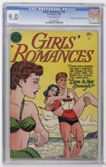 "Golden Age (1938-1955):Romance, Girls' Romances #16 Double Cover - Davis Crippen (""D"" Copy)pedigree (DC, 1952) CGC VF/NM 9.0 Off-white pages. CGC notes, ""1..."