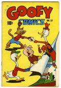 Golden Age (1938-1955):Funny Animal, Goofy Comics #27 (Nedor Publications, 1948) Condition: VF-. FrankFrazetta text illustrations. Overstreet 2006 VF 8.0 value ...