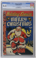 """Golden Age (1938-1955):Funny Animal, Holiday Comics #1 Davis Crippen (""""D"""" Copy) pedigree (StarPublications, 1951) CGC VF+ 8.5 Off-white to white pages.Christma..."""