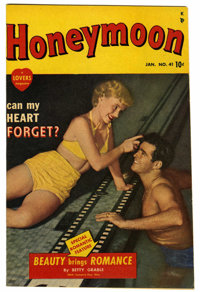 Honeymoon #41 Mile High pedigree (A Lover's Magazine (Marvel), 1950) Condition: NM-. Photo cover. Article by Betty Grabl...