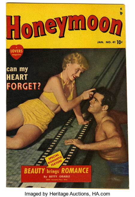 Honeymoon #41 Mile High pedigree (A Lover's Magazine (Marvel), 1950) Condition: NM-. Photo cover. Article by Betty Grable. O...