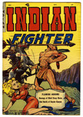 """Golden Age (1938-1955):Western, Indian Fighter #1 Davis Crippen (""""D"""" Copy) pedigree (Youthful Magazines, 1950) Condition: FN/VF. Walter Johnson cover. Overs..."""