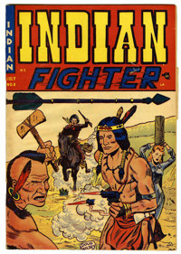 """Indian Fighter #2 Davis Crippen (""""D"""" Copy) pedigree (Youthful Magazines, 1950) Condition: VG. Doug Wildey cove..."""