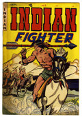 """Golden Age (1938-1955):Western, Indian Fighter #3 Davis Crippen (""""D"""" Copy) pedigree (Youthful Magazines, 1950) Condition: VF-. Walter Johnson cover. Doug Wi..."""