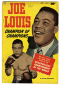 Golden Age (1938-1955):Non-Fiction, Joe Louis #1 (Fawcett, 1950) Condition: VG-. Life story. Photocover. Overstreet 2006 VG 4.0 value = $112. From the JohnM...