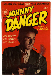 Johnny Danger #1 Mile High pedigree (Toby Publishing, 1950) Condition: FN/VF. Photo cover. Jack Sparling art. Overstreet...
