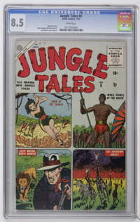 Jungle Tales #6 (Atlas, 1955) CGC VF+ 8.5 White pages. Syd Shores cover. Art by Shores, John Romita Sr., and Don Heck. O...
