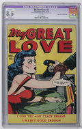 "Golden Age (1938-1955):Romance, My Great Love #2 Mile High pedigree (Fox Features Syndicate, 1949)CGC Apparent VF+ 8.5 Slight (A) White pages. CGC notes, ""..."