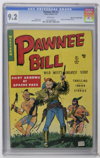 Pawnee Bill #3 Mile High pedigree (Story Comics, 1951) CGC NM- 9.2 White pages. Origin of the Golden Warrior. Lou Camero...