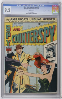 Spy and Counterspy #2 Mile High pedigree (ACG, 1949) CGC NM- 9.2 White pages. 52 pages. Overstreet 2006 NM- 9.2 value =...