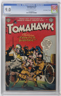 "Golden Age (1938-1955):Western, Tomahawk #10 Davis Crippen (""D"" Copy) pedigree (DC, 1952) CGC VF/NM9.0 Off-white to white pages. Overstreet 2006 VF/NM 9.0 ..."