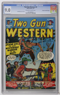 Two Gun Western #6 Mile High pedigree (Atlas, 1951) CGC VF/NM 9.0 Off-white pages. Joe Maneely cover and art. Overstreet...