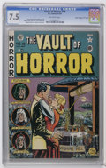 "Golden Age (1938-1955):Horror, Vault of Horror #18 Davis Crippen (""D"" Copy) pedigree (EC, 1951)CGC VF- 7.5 Off-white pages. Johnny Craig cover. Craig, Jac..."
