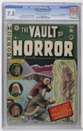 "Golden Age (1938-1955):Horror, Vault of Horror #22 Davis Crippen (""D"" Copy) pedigree (EC, 1951)CGC VF- 7.5 Off-white to white pages. Frankenstein cover by..."