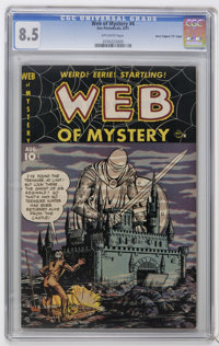 """Web of Mystery #4 Davis Crippen (""""D"""" Copy) pedigree (Ace, 1951) CGC VF+ 8.5 Off-white pages. Gene Colan art. H..."""
