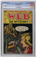 "Golden Age (1938-1955):Horror, Web of Mystery #15 Davis Crippen (""D"" Copy) pedigree (Ace, 1952)CGC FN/VF 7.0 Off-white pages. Overstreet 2006 FN 6.0 value..."