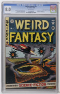 "Golden Age (1938-1955):Science Fiction, Weird Fantasy #11 Davis Crippen (""D"" Copy) pedigree (EC, 1952) CGCVF 8.0 Off-white pages. Al Feldstein cover. Wally Wood (t..."