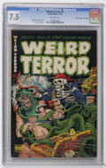 "Golden Age (1938-1955):Horror, Weird Terror #2 Davis Crippen (""D"" Copy) pedigree (Comic Media,1952) CGC VF- 7.5 Off-white pages. Henry Kiefer cover. Kiefe..."