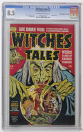 "Golden Age (1938-1955):Horror, Witches Tales #3 Davis Crippen (""D"" Copy) pedigree (Harvey, 1951)CGC VF+ 8.5 Off-white to white pages. Bondage cover by How..."